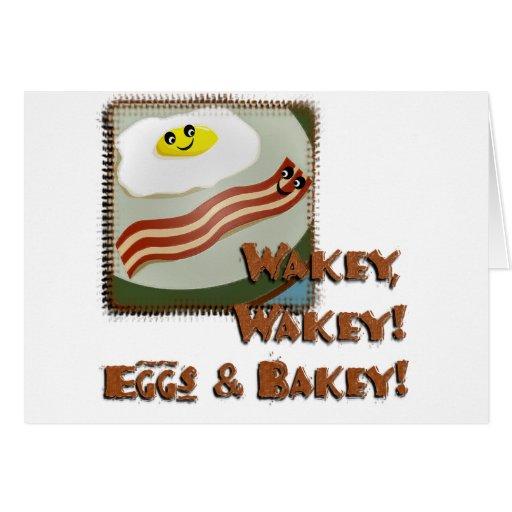 Wakey Eggs & Bakey Card
