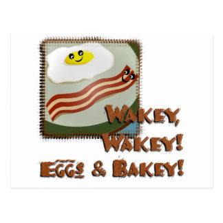 Wakey Eggs & Bakey Post Cards
