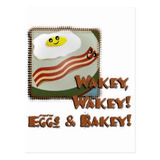 Wakey Eggs & Bakey Postcard