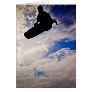 """""""Waking Life"""" Wakeboarder Inverted Silhouette Card"""