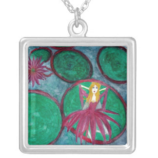 Waking Lily by Dana Lee Silver Plated Necklace