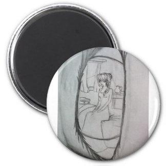 Waking up 2 inch round magnet