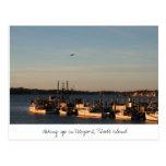 Waking up in Newport, Rhode Island Postcard