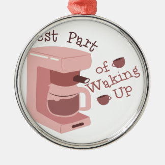 Waking Up Metal Ornament