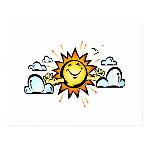 Waking up Sun Post Cards