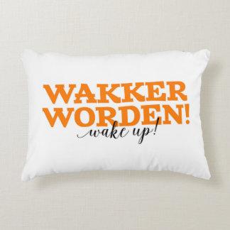 Wakker Worden! / Wake Up! Dutch Vocabulary Words Decorative Pillow