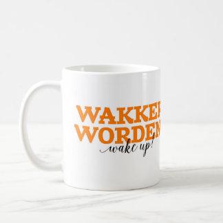 Wakker Worden! / Wake Up! Dutch Word Vocabulary Coffee Mug