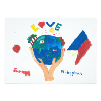 WAKU MESSAGE CARD ~Art by kids of Philippines~