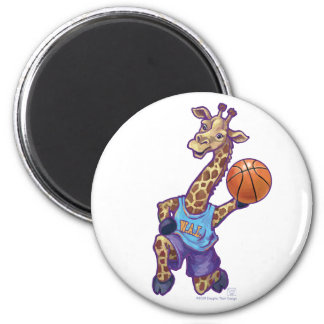 WAL Basketball 2 Inch Round Magnet