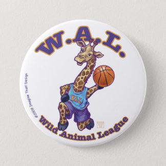 WAL Basketball Pinback Button
