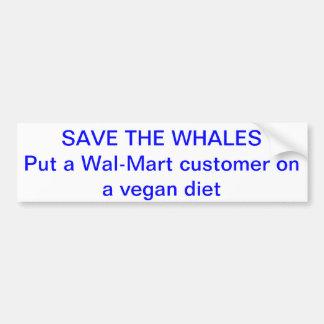 Wal-Mart humor Bumper Sticker