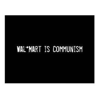 Wal*Mart is Communism Postcard