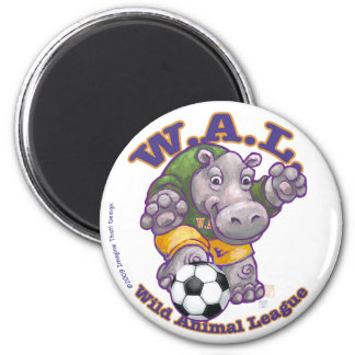 WAL Soccer 2 Inch Round Magnet