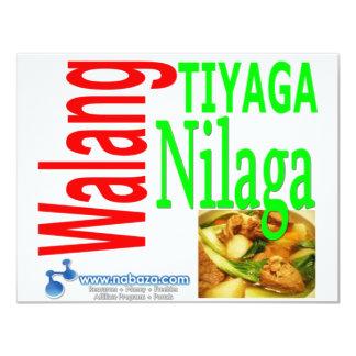 Walang Tiyaga, Walang Nilaga 4.25x5.5 Paper Invitation Card