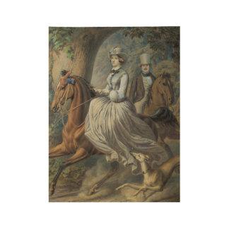 WALCH, ALBERT (Augsburg 1816 - 1882 Bern) The hors Wood Poster