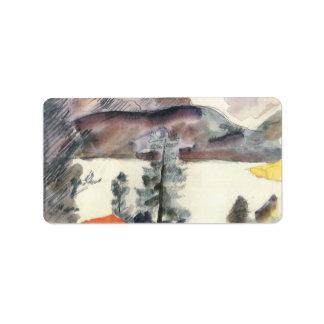 Walchensee by Lovis Corinth Label