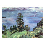 "Walchensee Panoramic View From The Pulpit By Corin 4.25"" X 5.5"" Invitation Card"
