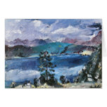 Walchensee with larch by Lovis Corinth Cards