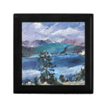Walchensee with larch by Lovis Corinth Jewelry Boxes