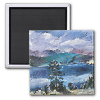 Walchensee with larch by Lovis Corinth Fridge Magnets