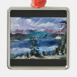 Walchensee with larch by Lovis Corinth Christmas Ornaments