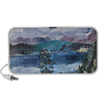 Walchensee with larch by Lovis Corinth Laptop Speakers