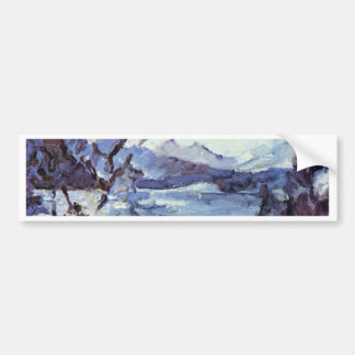 Walchensee With Mountains And Shore Slope By Corin Bumper Stickers