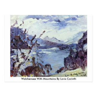 Walchensee With Mountains By Lovis Corinth Postcard