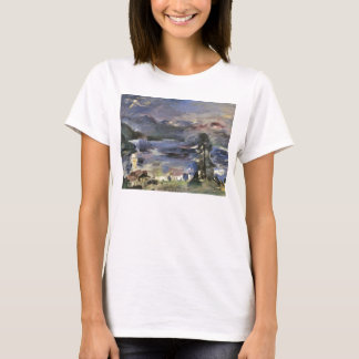 Walchensee with rising moon by Lovis Corinth T-Shirt