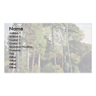 Waldbach With Deer By Courbet Gustave Double-Sided Standard Business Cards (Pack Of 100)