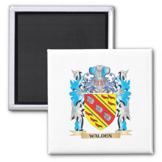 Walden Coat of Arms - Family Crest 2 Inch Square Magnet