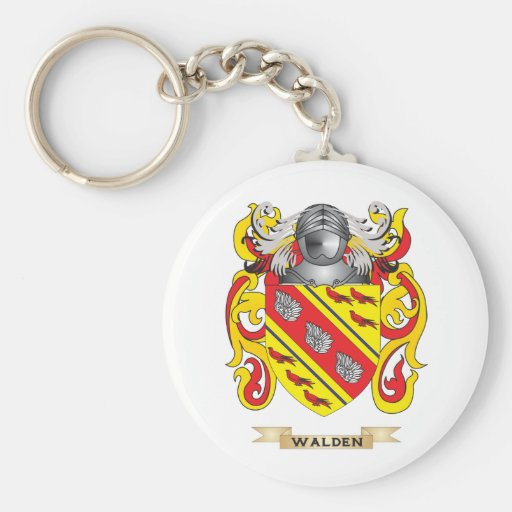 Walden Family Crest (Coat of Arms) Basic Round Button Keychain
