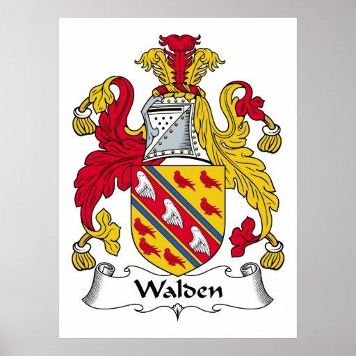 Walden Family Crest Poster