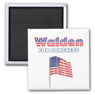 Walden for Congress Patriotic American Flag Magnet