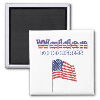 Walden para la bandera americana patriótica del co imanes para frigoríficos
