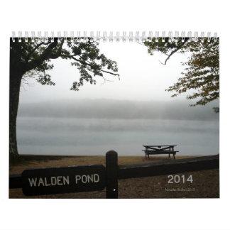 Walden Pond 2014 Calendar with Thoreau quotations