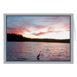 Walden Pond: Heron Card