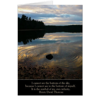 "Walden Pond ""My Own Infinity"" Card"