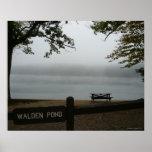 Walden Pond  Poster - Contemplative Mist