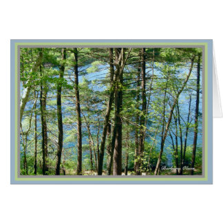 Walden Pond: Richest pleasures are the cheapest. Card