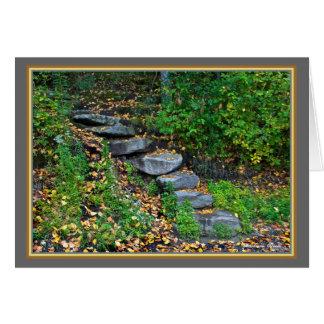 Walden Pond: Steps-Greeting Card
