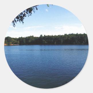Walden Pond Round Stickers