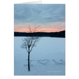 Walden Pond: The heart is forever inexperienced. Card