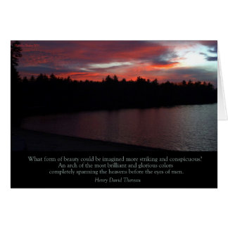 """Walden Pond """"What Form of Beauty"""" card"""