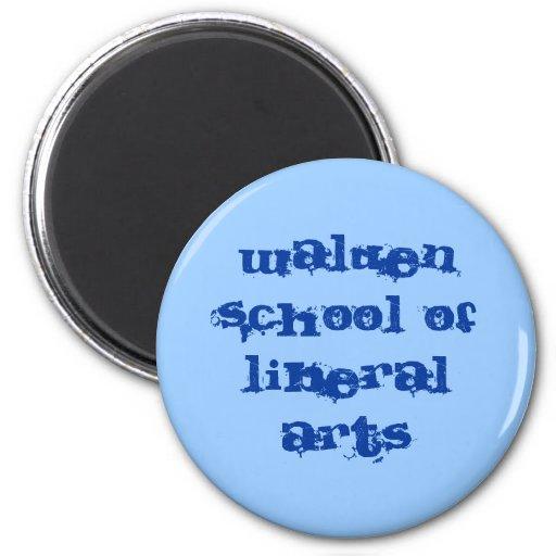 Walden school of liberal arts 2 inch round magnet