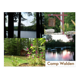 walden stationary postcard