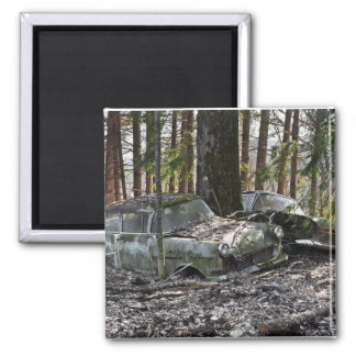 Waldfriedhof 2 Inch Square Magnet