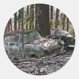 Waldfriedhof Classic Round Sticker