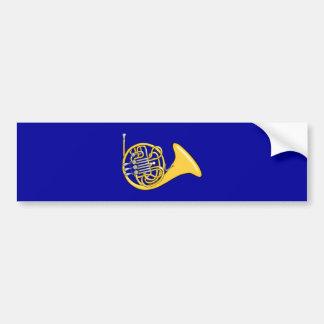 Waldhorn french horn bumper sticker