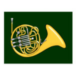 Waldhorn french horn post cards
